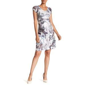 Komarov NWOT Cap Sleeve Crinkle Mini Dress